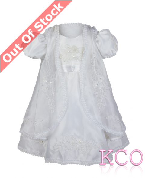 Style H4072 White~ Girls Christening Dress